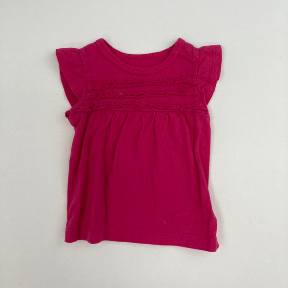 Solid Hot Pink Top 3 mth