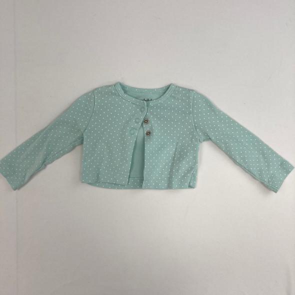 Mint Green Polka Dot Sweater 3-6 mth