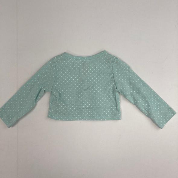 Mint Green Polka Dot Sweater 3-6 mth A