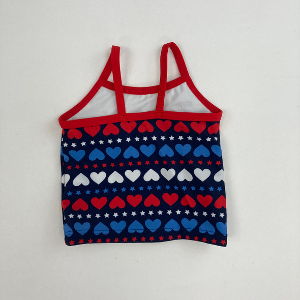 Red, White & Blue Swim Top 3 mth