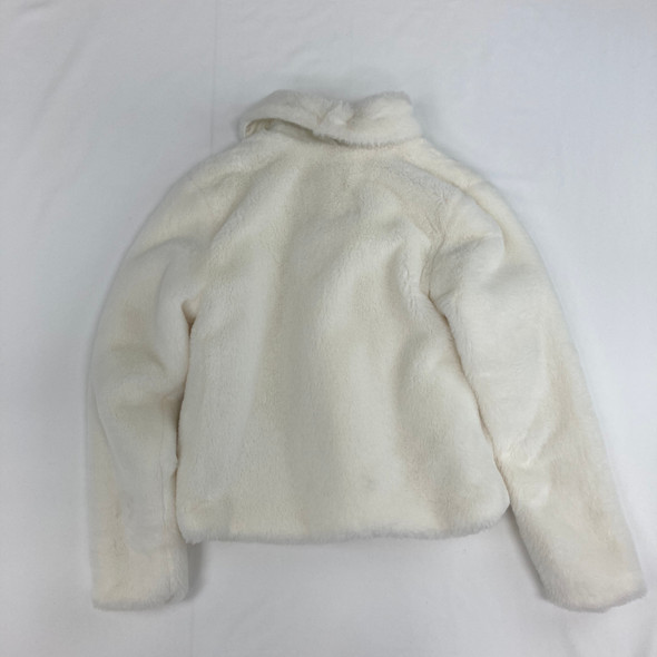 Cream Fluffy Coat Medium