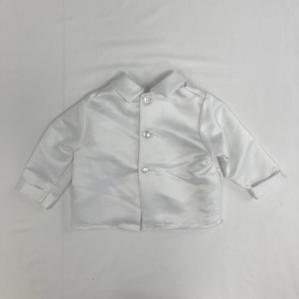 Fancy Solid Shirt with Tie 6-9 mth
