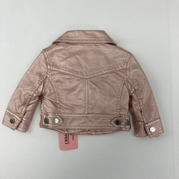 Blush Faux-Leather Jacket 3-6 mth