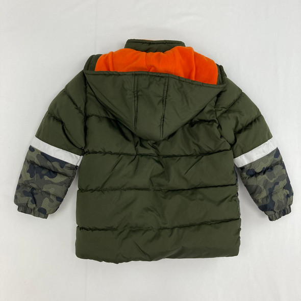 Geometric Camouflage coat 4T