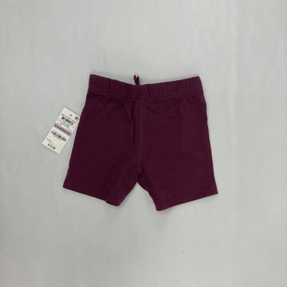 Burgundy Jersey Shorts 6-9 mth