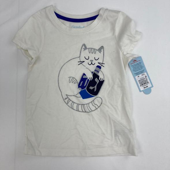 Kitty Dreidel Graphic T-Shirt 4T