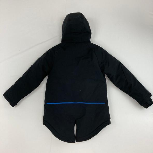 Black Parka Jacket Small 6/7 yr