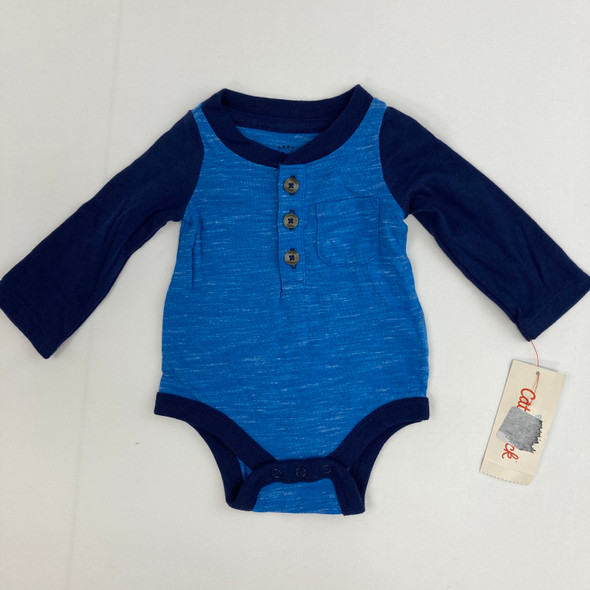 Blue Burst Top Newborn