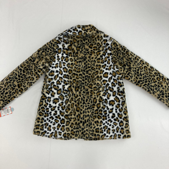 Leopard Print Faux Fur Jacket Medium