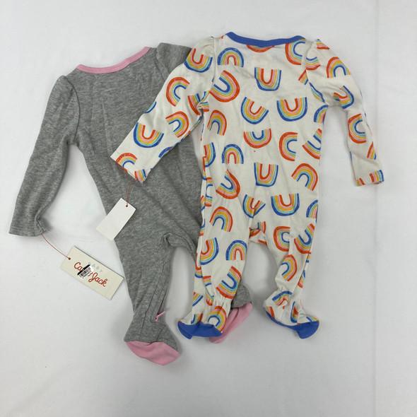 2pk Rainbow Sleepwear Newborn