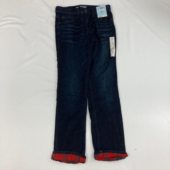 Dark Denim Plaid Jeans 12 yr