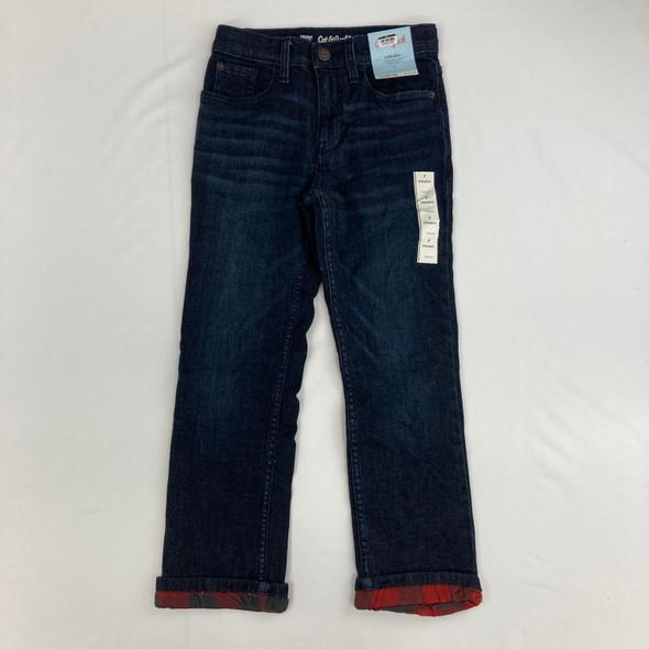 Plaid Dark Denim Jeans 7 yr