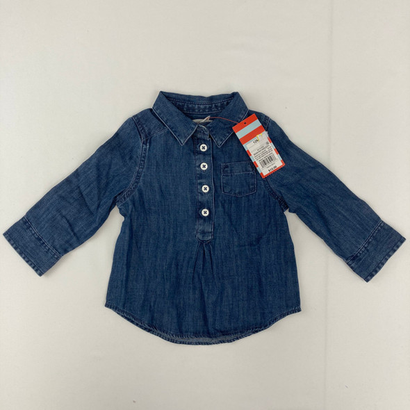 Medium Wash Denim Button Down 12 mth