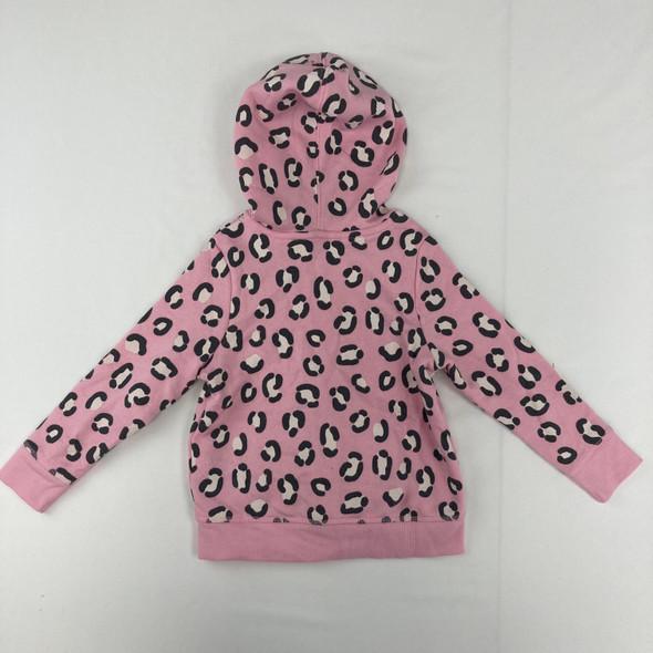 Animal Print Fleece Zip-Up Hoodie 2T