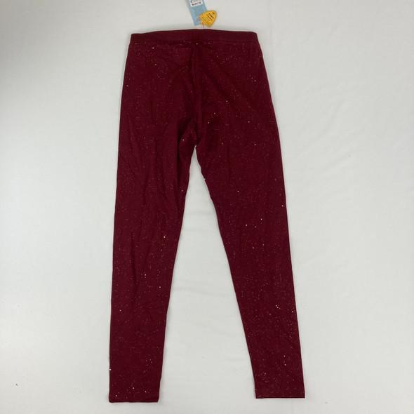Burgundy Sparkle Leggings XL