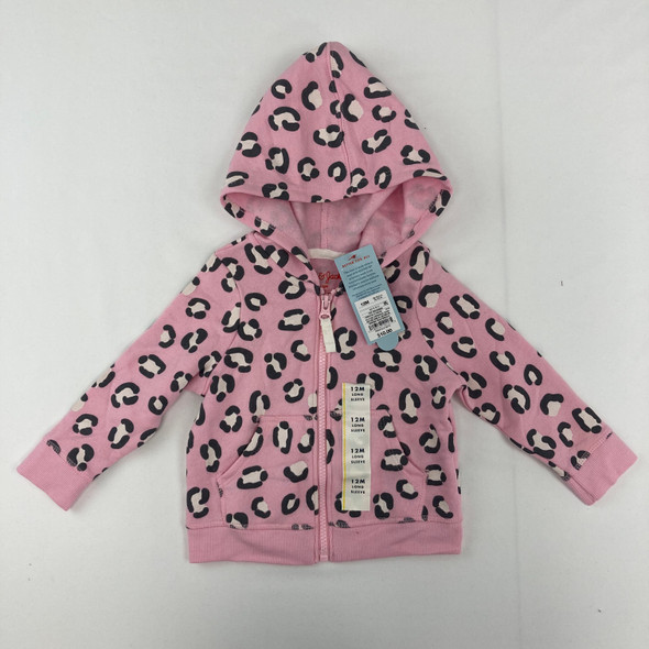 Animal Print Fleece Zip Hoodie 12 mth