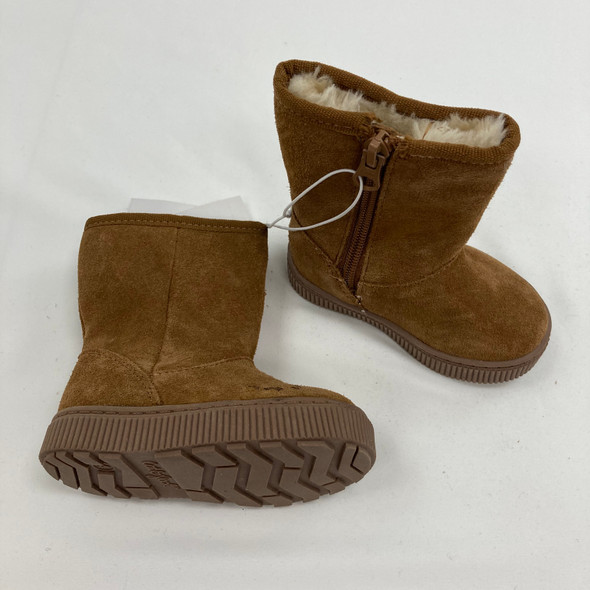 Chestnut Suede Shearling Boots 4