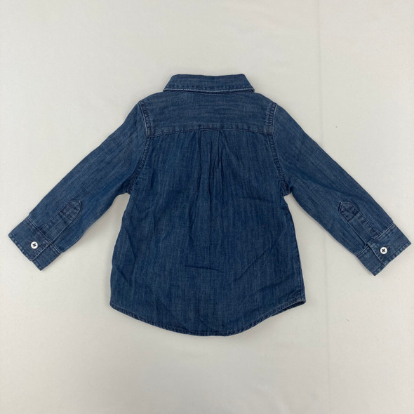 Medium Wash Denim Button Down 18 mth