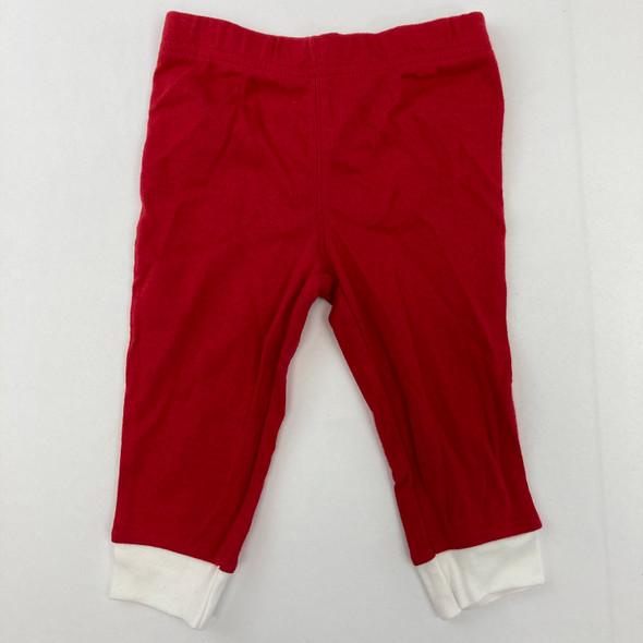 Red Sleepwear Pants 9 mth
