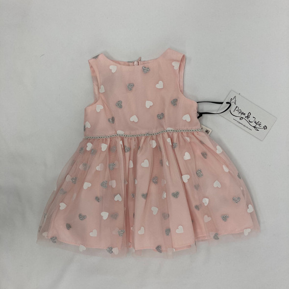 Sparkly Heart Dress 12 mth