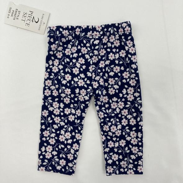 Navy Floral Leggings 6-9 mth