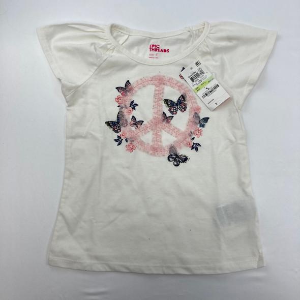 Peace and Butterflies Shirt 4T