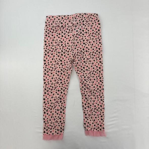 Cheetah Heart Tule Leggings 3T