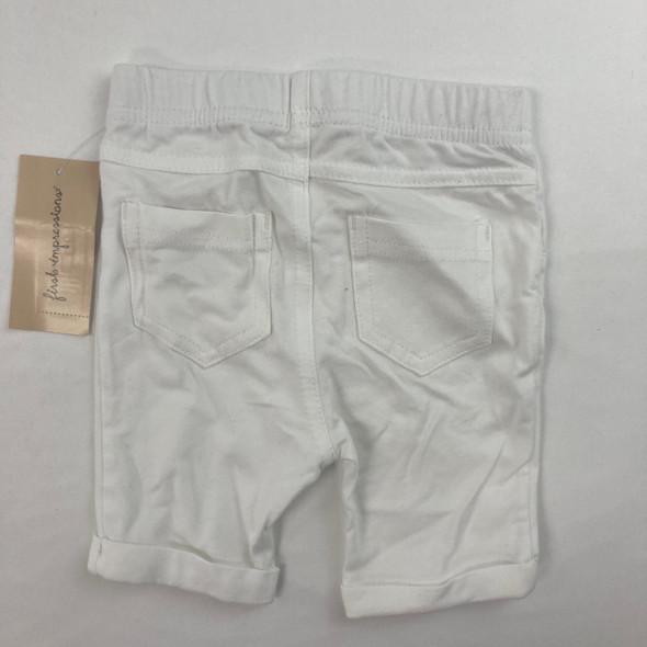 White Bermuda Shorts 6-9 mth