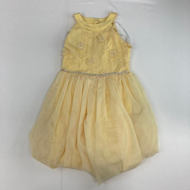 Floral Yellow Dress 10 yr