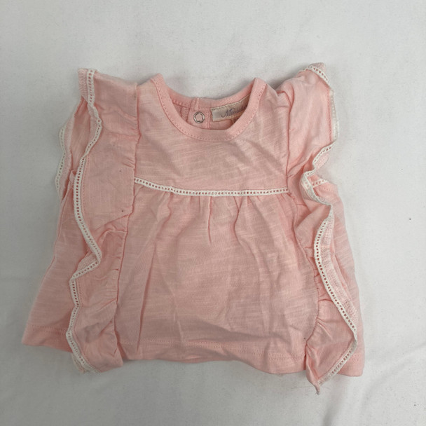 Pink Ruffle Top 3-6 mth