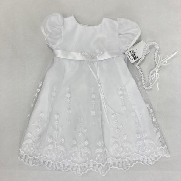 Christening Flower Dress 0-3 mth