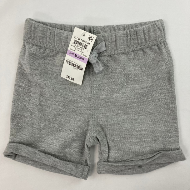 Solid Slate Heather Shorts 6-9 mth