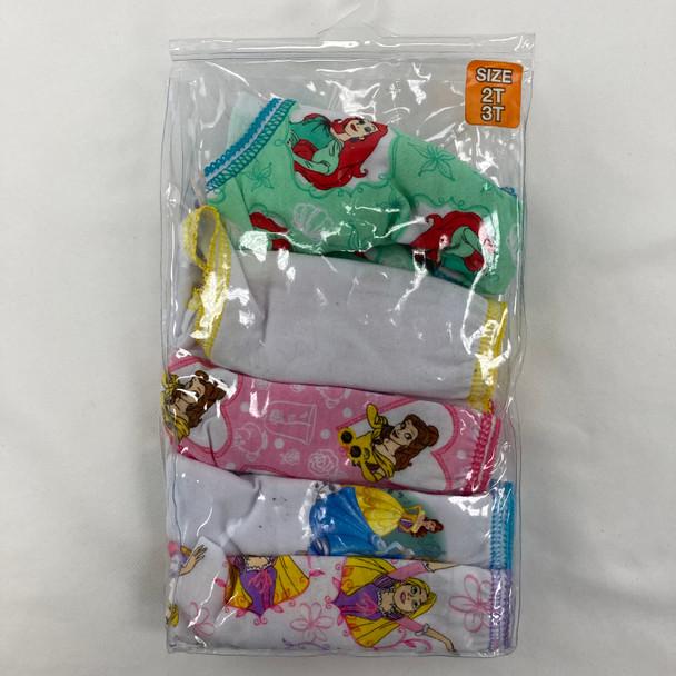 5-Pack Princess Underwear 2T/3T