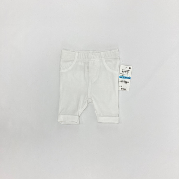 Bright White Capris 3-6 mth
