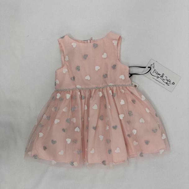 Sparkly Heart Dress 12 mth