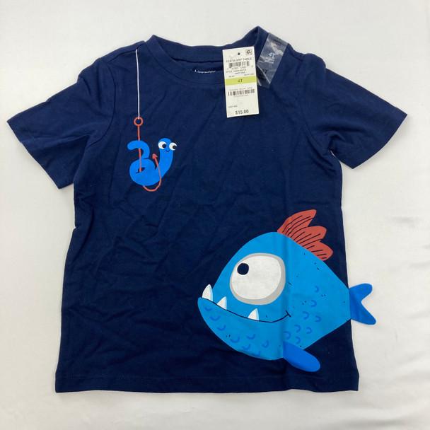 Navy Fish Graphic Shirt 4T