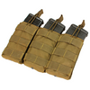 Condor MOLLE Triple M4/M16 Open Top Magazine Pouch, Coyote Brown