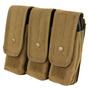 Condor MOLLE Triple AR/AK Mag Pouch, Coyote Brown