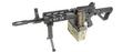 GandG CM16 LMG Airsoft Rifle w/ Tan Mag Cover, Black