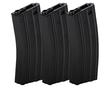 Lancer Tactical 300 Round Metal M4 High Capacity Magazine, Gen 2, Black, 3 Pack