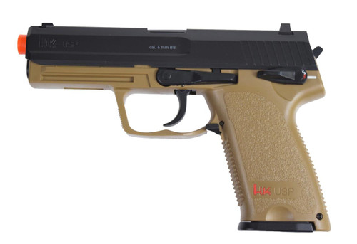 HandK USP CO2 Airsoft Pistol, Black/Tan