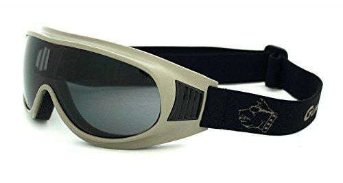 GUARD DOGS Commander I Goggles with Smoke Anti-Fog Lens, Tan Frame
