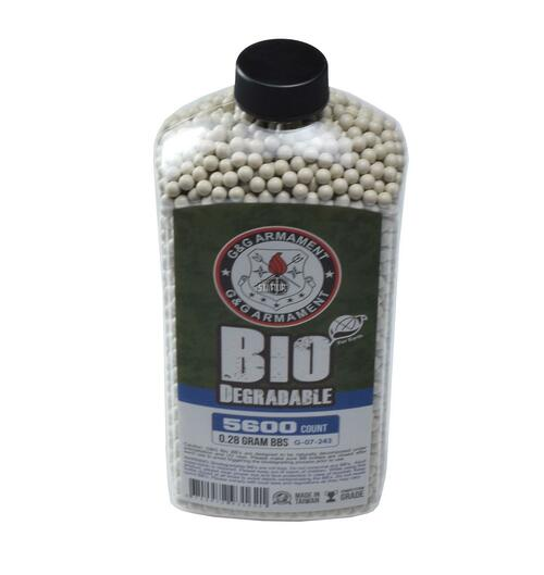 GandG Perfect BBs, 0.28g, 5600 ct Bottle, White, Biodegradable