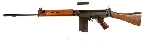 Ares L1A1 SLR FAL Airsoft Rifle, Black w/ Real Wood