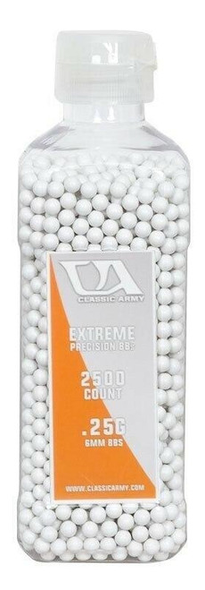 Classic Army 0.25g Extreme Precision Premium Airsoft BBs, 2500ct Bottle