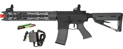 Valken ASL Series AEG Airsoft Rifle TRG, Black/Grey - Included Battery and Charger