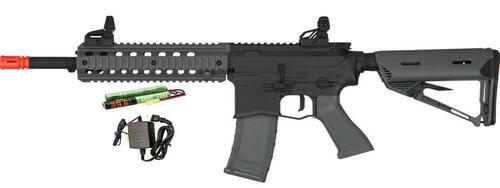 Valken ASL Series AEG Airsoft Rifle MOD-M, Black/Grey - Included Battery and Charger