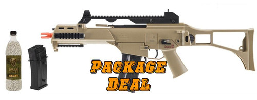 HandK G36C AEG Bundle - Includes Extra Mag and 5000 BBs