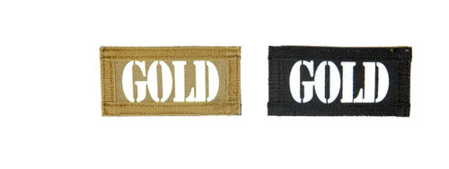 Gold Call Sign Patches, IR and Glow-In-The-Dark Set