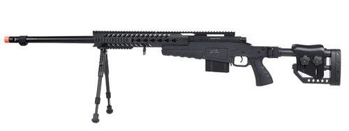 WellFire MB4418-2 Bolt Action Airsoft Sniper Rifle w/ Bipod, Black